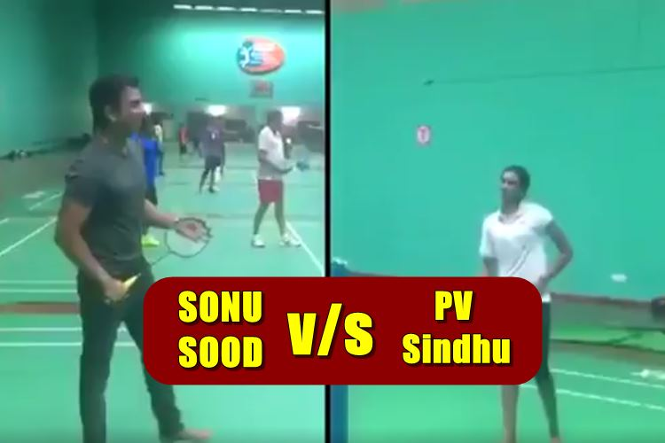 Sonu Sood beats Olympic silver medalist PV Sindhu in a friendly badminton game| Watch Video