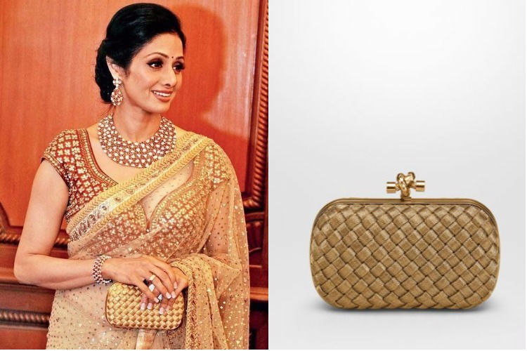 Sridevi carrying Bottega Veneta clutch