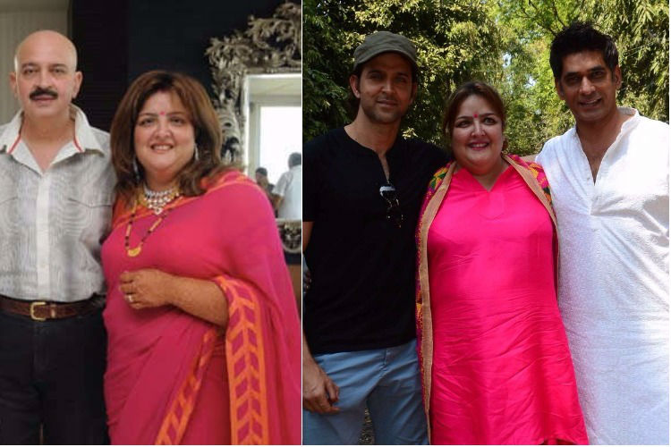 Sunaina Roshan with family