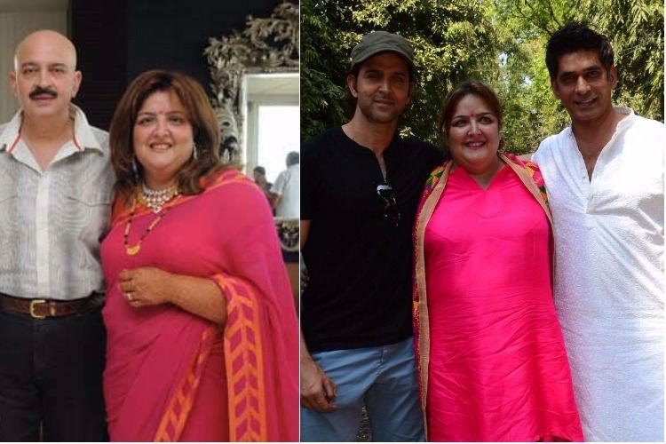 Sunaina Roshan with family