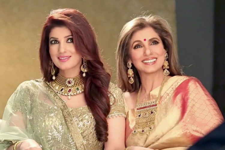 Dimple and Twinkle Khanna