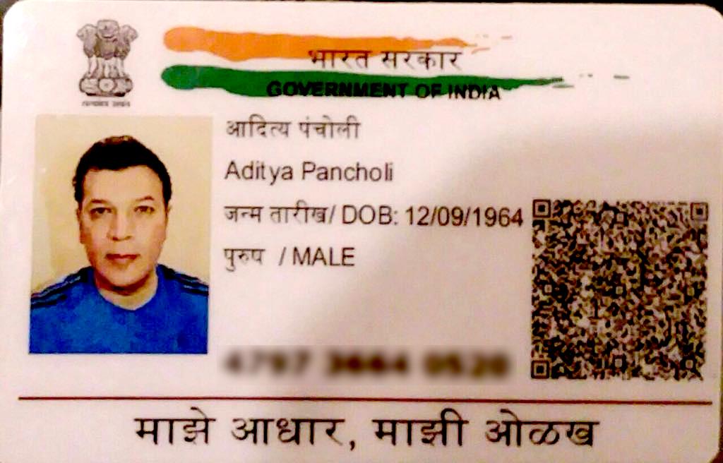 Aditya Pancholi Adhar Card