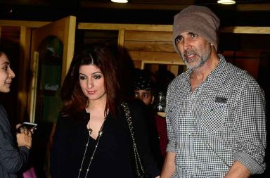 Akshay Kumar and Twinkle Khanna spotted