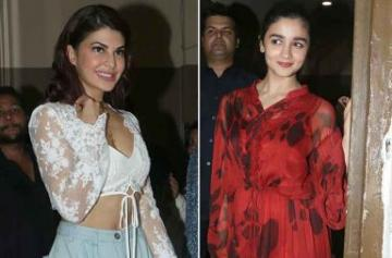 Jacqueline Fernandez, Alia Bhatt, attend Judwaa 2 screening together photo
