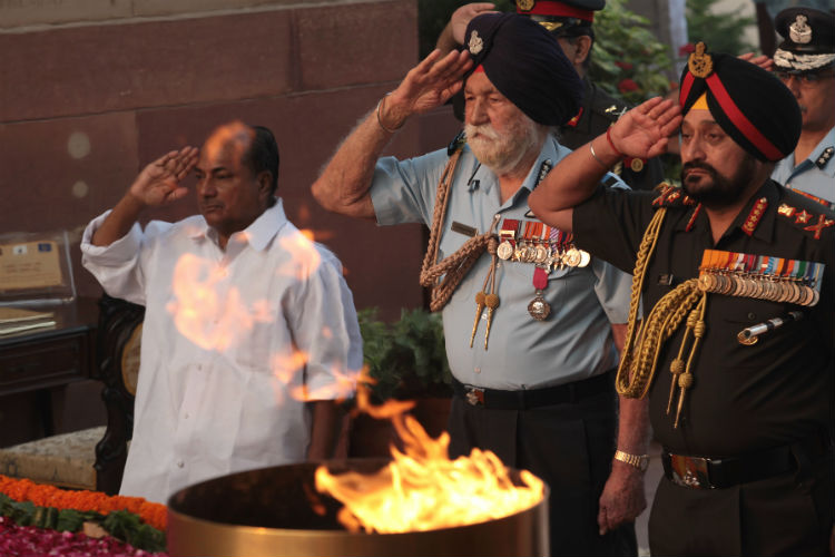 Marshal Arjan Singh, AK Antony