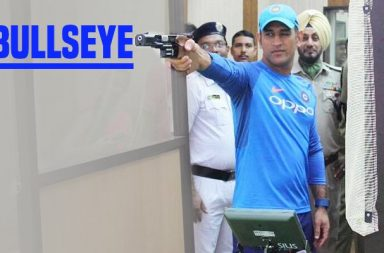 MS Dhoni showcases shooting skill