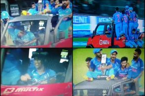 MS Dhoni, MS Dhoni drives car, Jasprit Bumrah, India vs Sri Lanka, IND vs SL 5th ODI, Colombo ODI, MS Dhoni 100th stumping