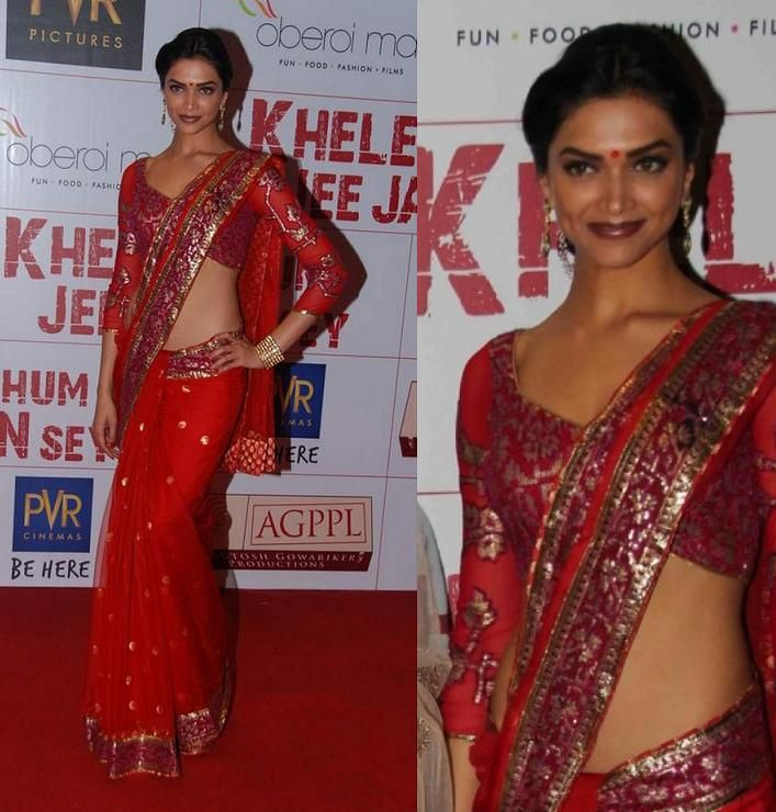 Deepika Padukone in saaree