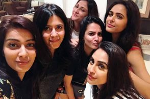 Ekta Kapoor, Anita Hassanandani, Urvashi Dholakia party together photo