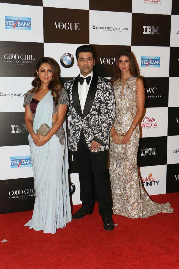 Gauri Khan with Karan Johar and Shweta Nanda