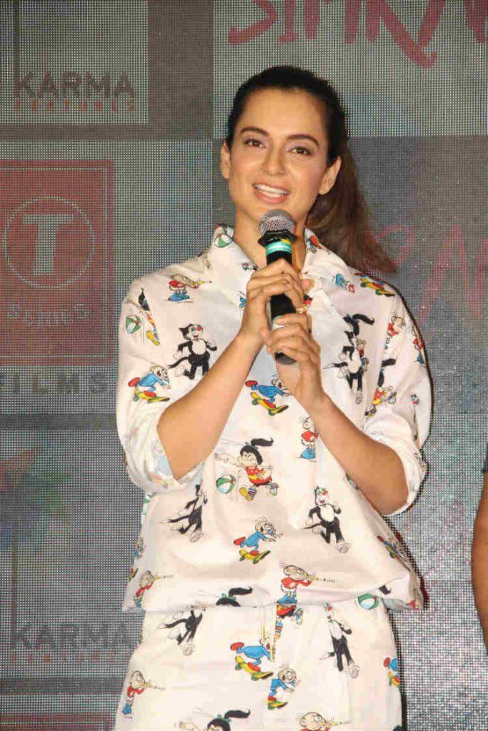 Kangana Ranaut during the promotion of Simran