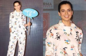 Kangana Ranaut during the promotion of Simran