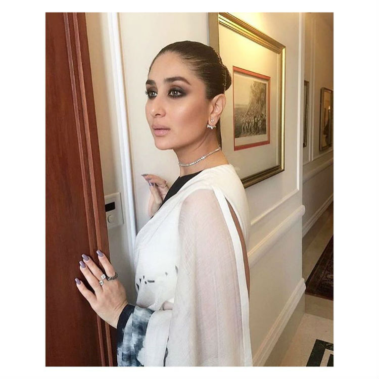 Kareena Kapoor in a saree from Akshat Bansal's Bloni collection