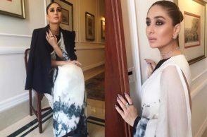 Kareena Kapoor in a saree from Akshat Bansal's Bloni collection