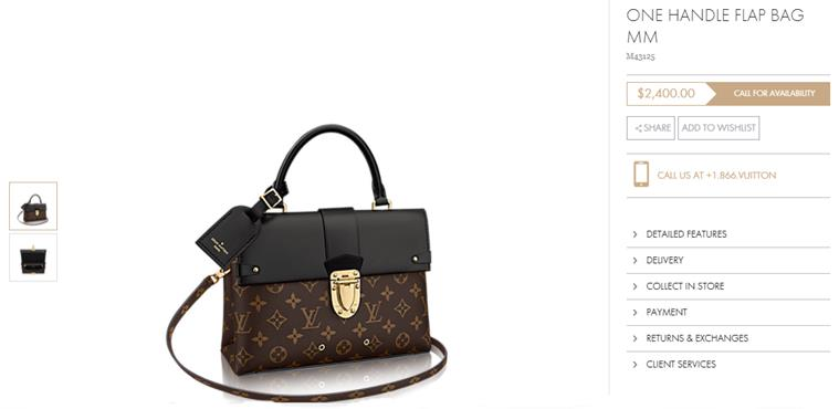 Louis Vuitton bag price