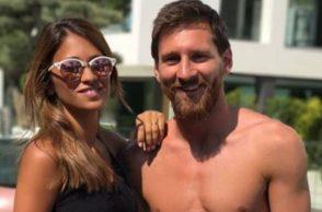 Lionel Messi tattoo, Lionel Messi's wife, Lionel Messi bizarre, Antonella Rocuzzo lips, Antonella Rocuzzo tattoo, Lionel Messi weird, Lionel Messi trolled