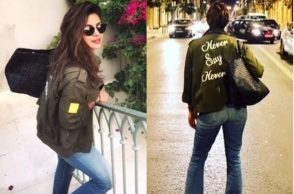 Priyanka Chopra in Alice and Olivia cargo jacket