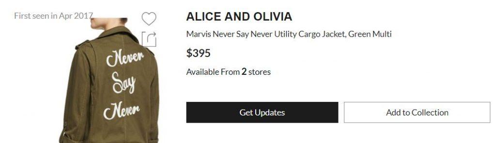 Alice and Olivia jacket
