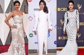 Priyanka Chopra in white outfits