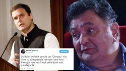 Rishi Kapoor blasts Rahul Gandhi after his 'dynasty' speech, asks him to stop bulls***ting people