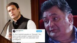 Rishi Kapoor blasts Rahul Gandhi after his 'dynasty' speech, asks him to stop bulls***ting people