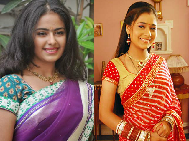 Sana Khan and Avika Gor in Sasural Simar Ka