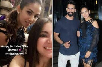 Shahid Kapoor celebrated Mira Rajput's birthday photo