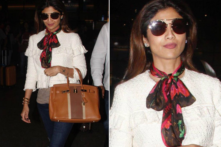 Shilpa Shetty's average looking scarf costs 140 times more than ours and we are speechless!