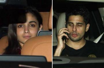 Alia Bhatt and Sidharth Malhotra party together