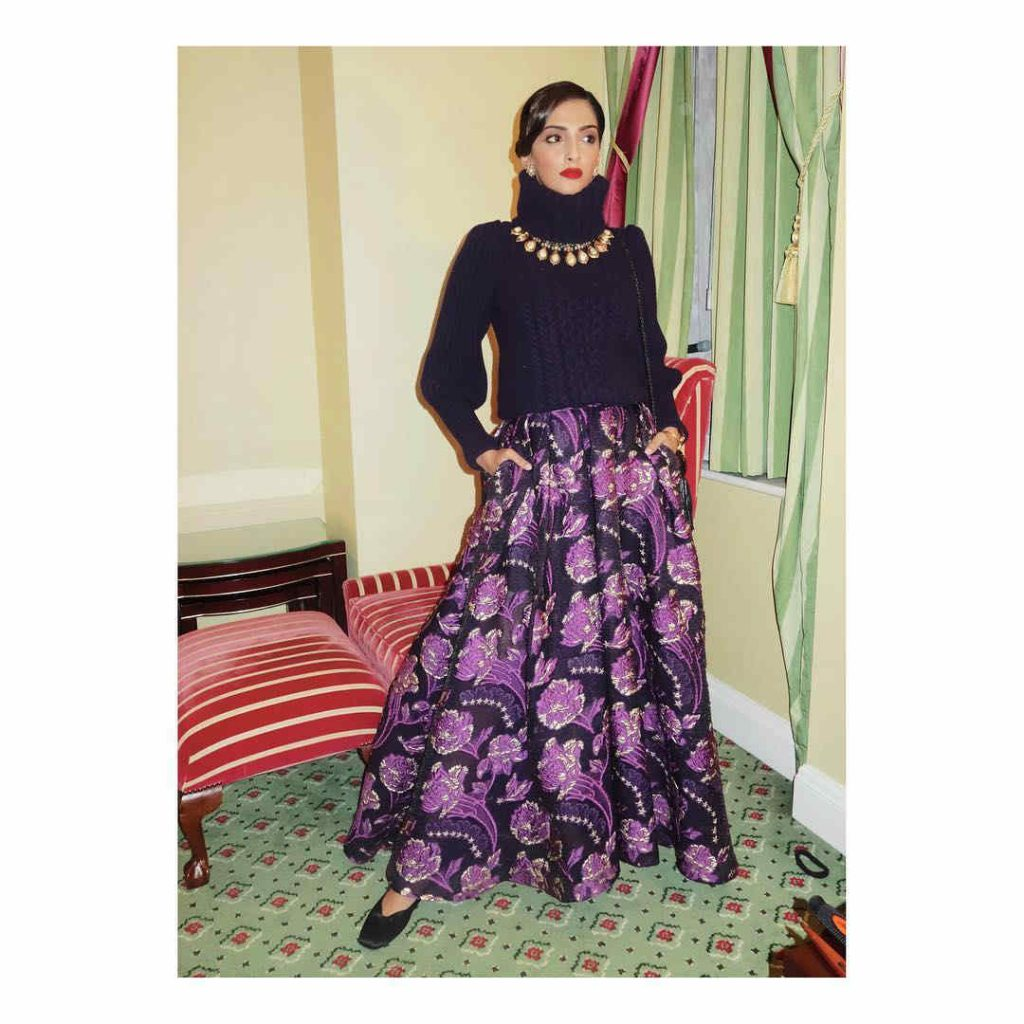 Sonam Kapoor in Temperley London outfit