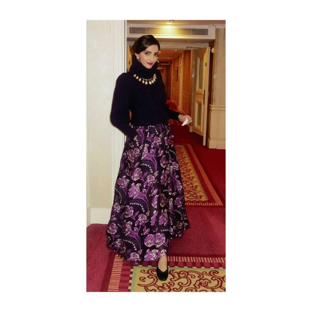 Sonam Kapoor in Temperley London outfit