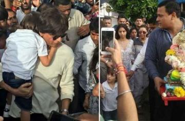 Ganesh Chaturthi 2017: Shah Rukh-Abram perform the Visarjan