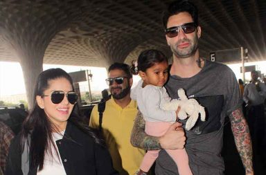 Sunny Leone spotted with daughter Nisha