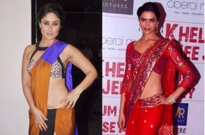Kareena Kapoor, Deepika Padukone in saree