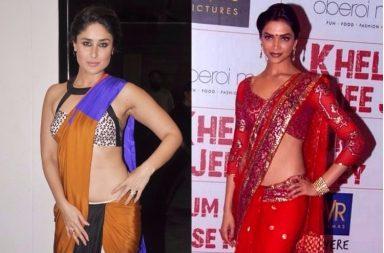 Kareena Kapoor, Deepika Padukone in saree