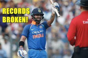 Virat Kohli 200th ODI records, Virat Kohli equals AB de Villiers records, Virat Kohli ODI records, Virat Kohli 31st ODI century, India vs New Zealand, Virat Kohli records, Most centuries in ODIs, Ricky Ponting, Sachin Tendulkar