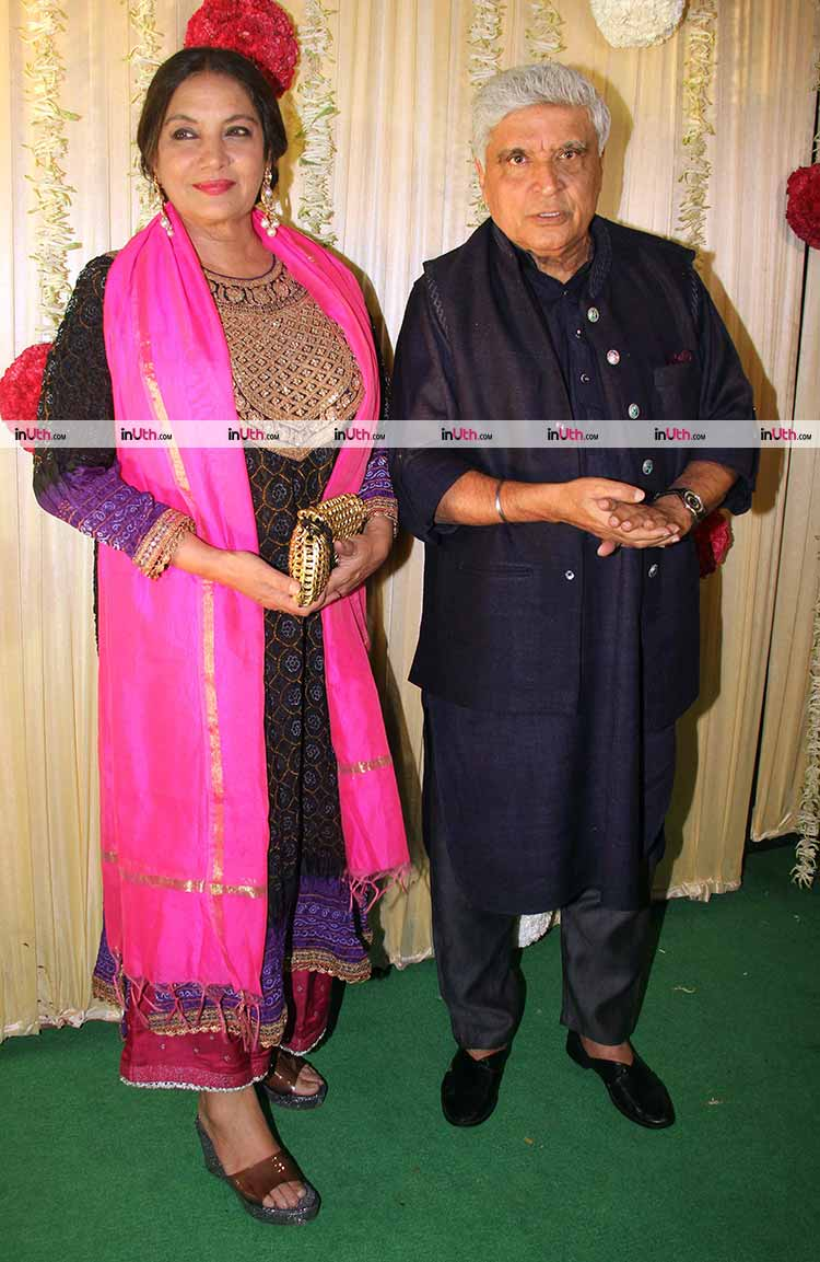 Javed Akhtar and Shabana Azmi at Ekta Kapoor's Diwali party
