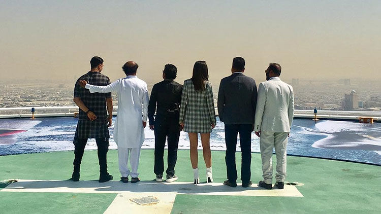 2.0 team in Dubai for the music launch