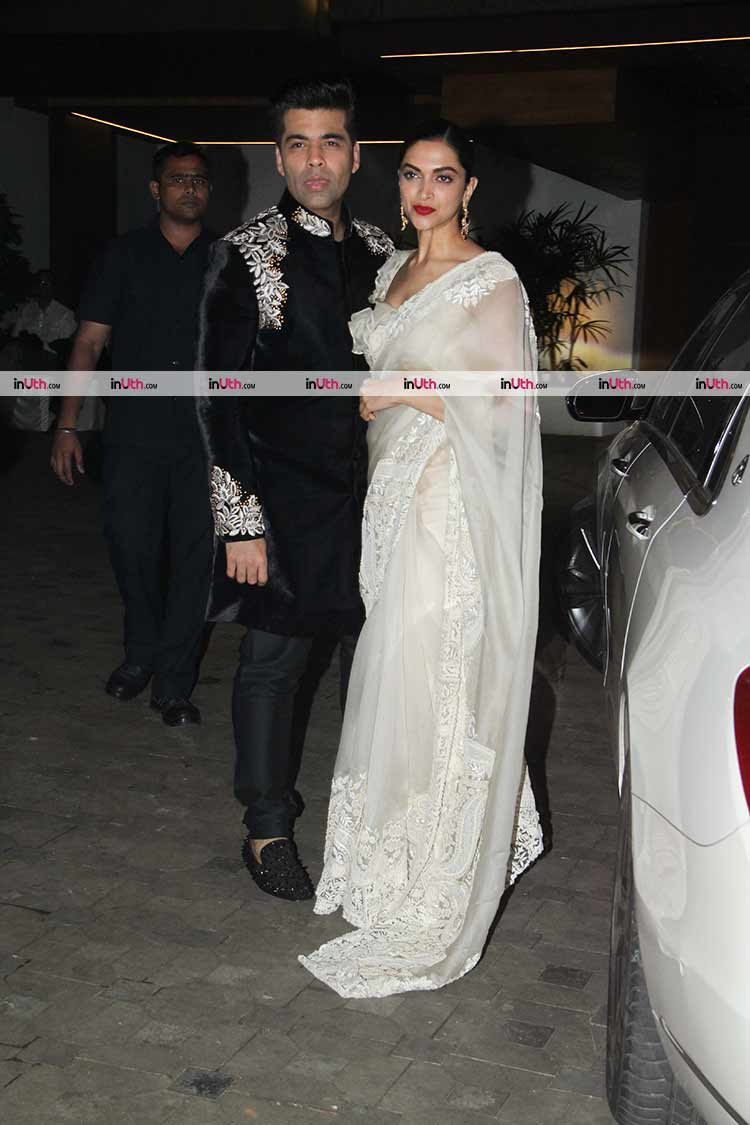 Deepika Padukone and Karan Johar at Aamir Khan's Diwali party