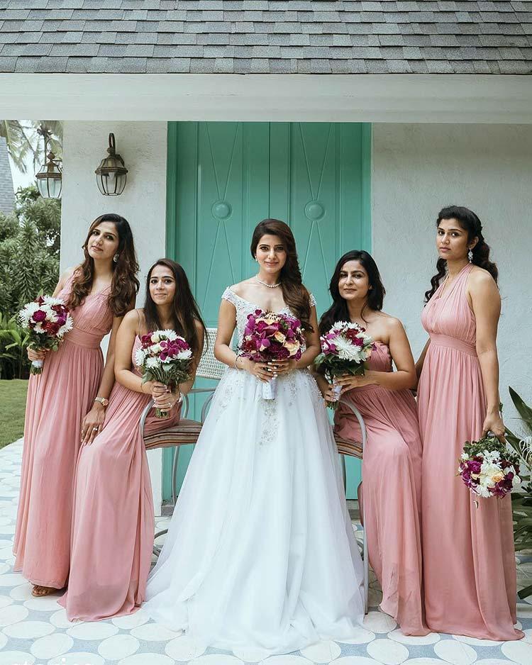 Samantha Ruth Prabhu with her bridesmaids