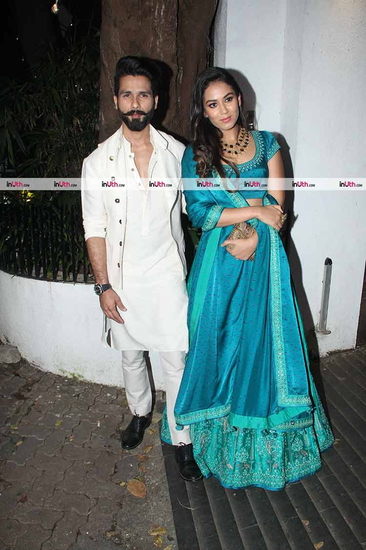 Shahid Kapoor with Mira Rajput at Aamir Khan's Diwali party