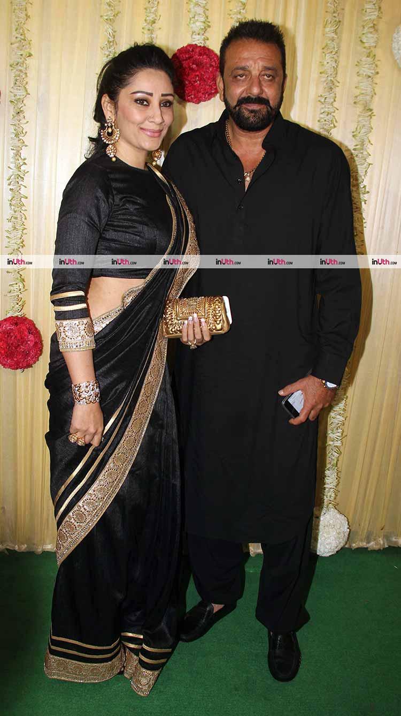 Sanjay and Maanayata Dutt at Ekta Kapoor's Diwali party