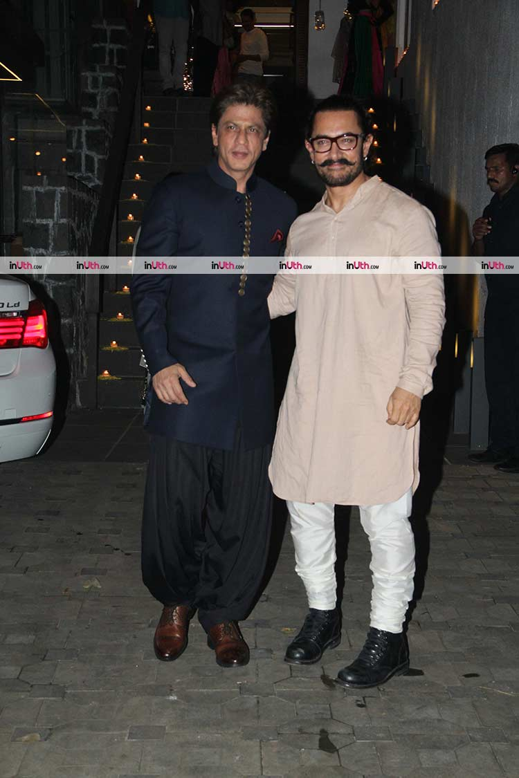Shah Rukh Khan at Aamir Khan's Diwali party