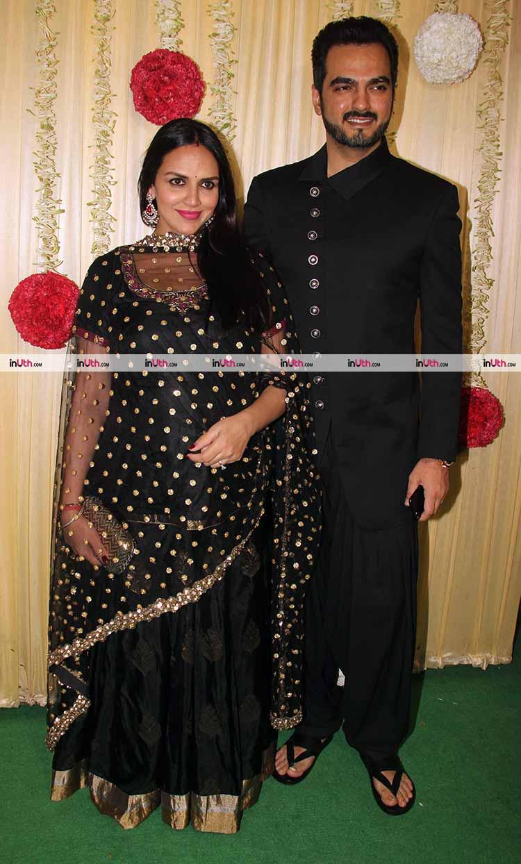 Esha Deol with husband at Ekta Kapoor's Diwali party