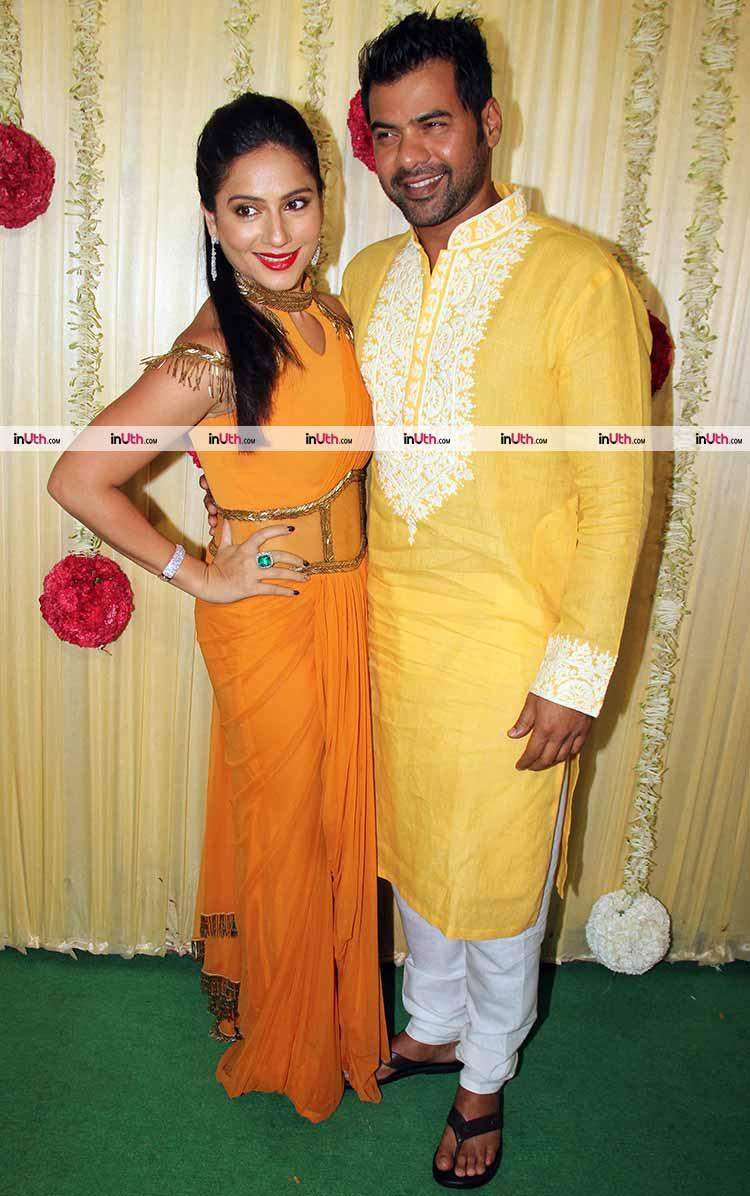 Shabbir Ahluwalia and Kanchi Kaul at Ekta Kapoor's Diwali party