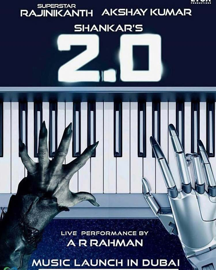 A.R. Rahman to launch the music of 2.0 in Dubai