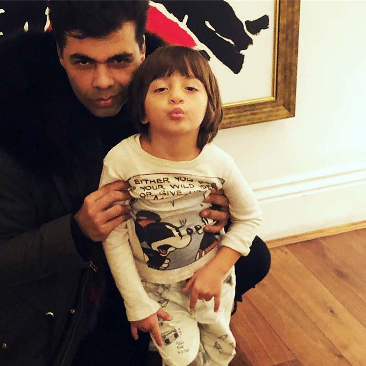AbRam has started pouting better than Karan Johar