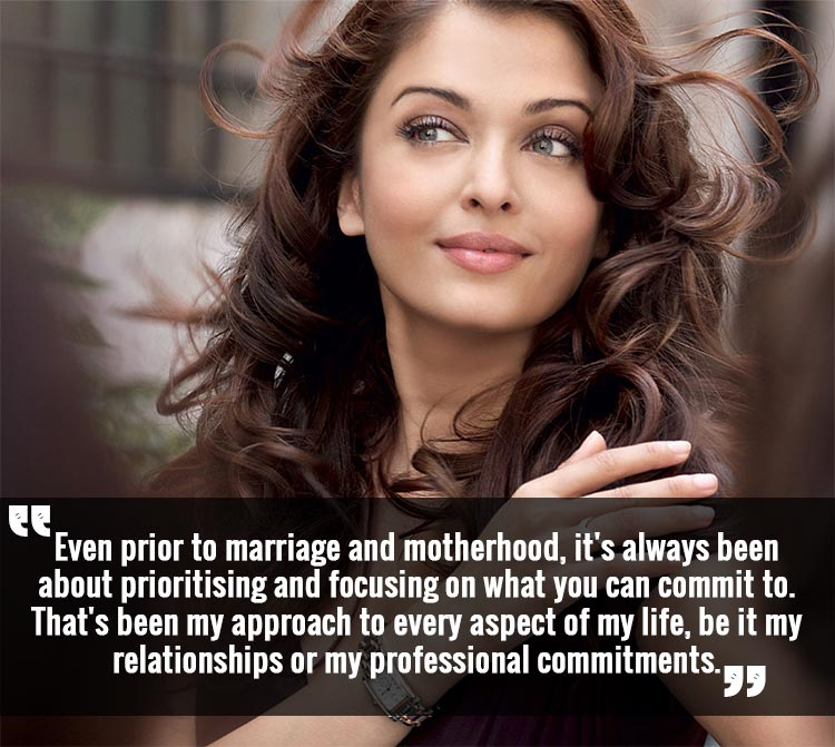 Aishwarya Rai on how she maintains the work-life balance