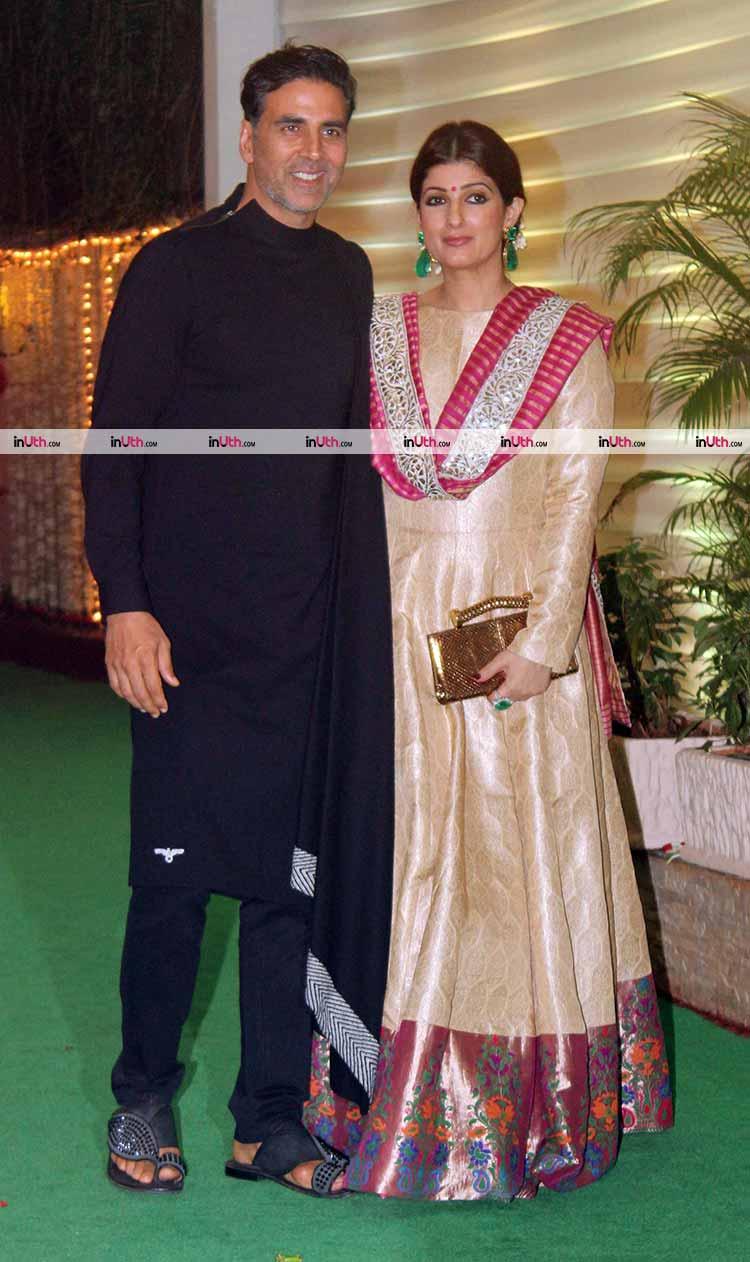 Akshay Kumar and Twinkle Khanna at Ekta Kapoor's Diwali party