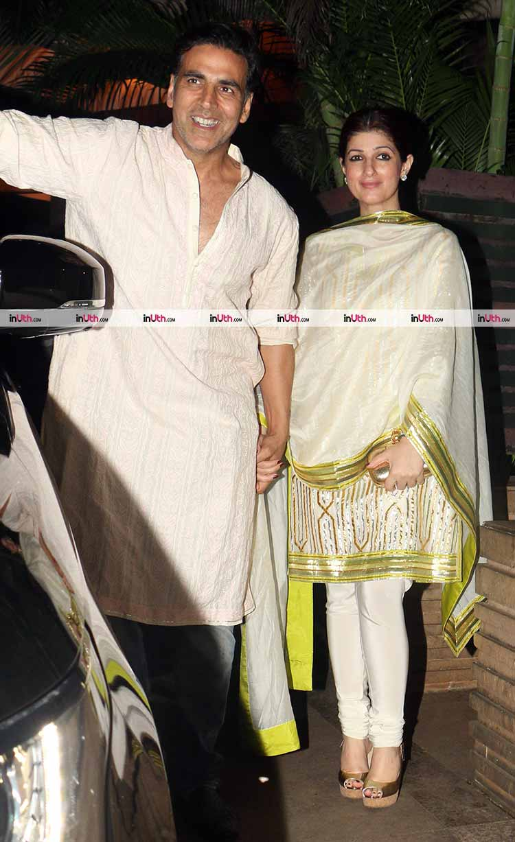 Akshay Kumar and Twinkle Khanna host a Diwali party